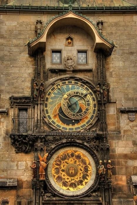 Clockface in Prague.