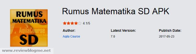 Rumus Matematika SD APK Free Download