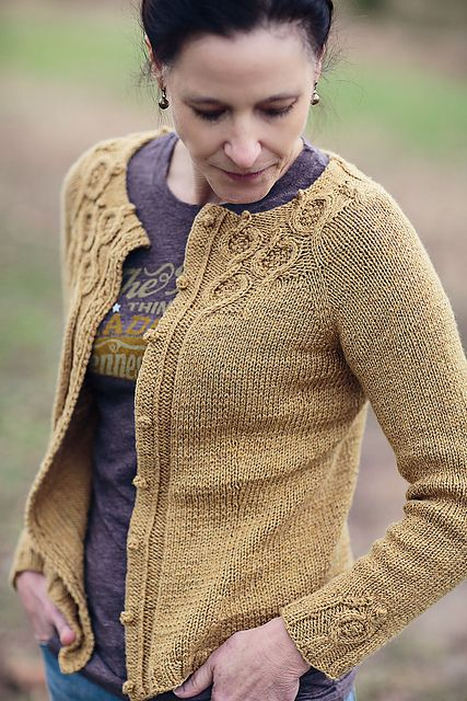Ravelry: Coriander pattern by Jennifer Wood shown in a combo of Pebble and Staccato by Shibui Knits