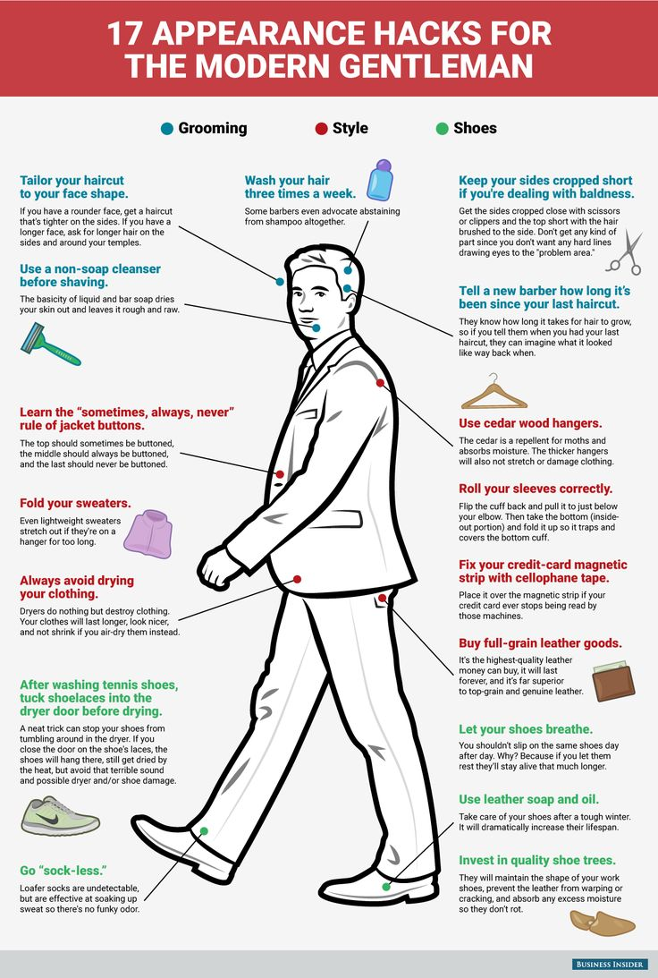 17 Appearance Hacks for the Modern gentleman #infographic #Hacks #Lifestyle…