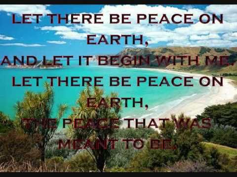 "LET THERE BE PEACE ON EARTH  = Christmas Song  To all people of the Philippines especially in Mindanao, ""Let there Be Peace not only during for Christmas but always. I am  just hoping this coming May election 2010 there is peace no ambush no bombing,  no kidnapping , And I am hoping this election is clean. If someone buy your vote. accept the money but vote what is in your he..."