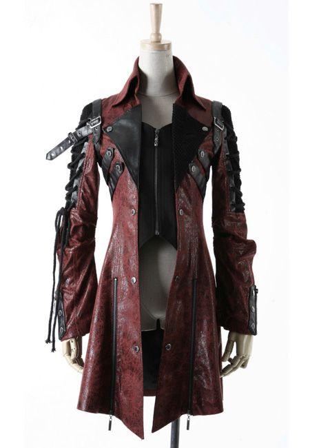 Steam Punk Army Jacket | Red  Also looks a little like what Robert Carlyle wears as Rumpelstilkstkin....