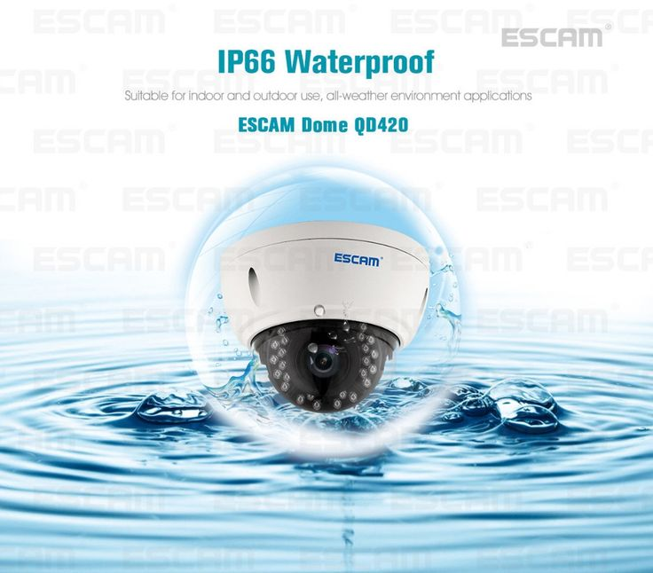 105.27$  Watch now - http://alivcp.worldwells.pw/go.php?t=32793295993 - ESCAM H.265 4MP IP66 esterna impermeabile IP Dome Camera 1520 Onvif P2P IR di Sorveglianza Night Vision Security CCTV Camera fe9