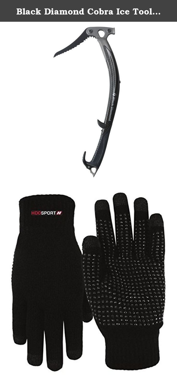 Black Diamond Cobra Ice Tool Carbon Fiber Hammer and HDO Lite E-tip Gloves with Grippers. Black Diamond Cobra Ice Tool Carbon Fiber Hammer.