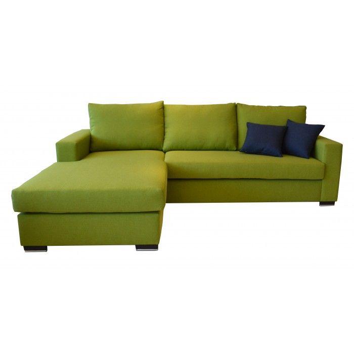 """Καναπές γωνία """"Loft - Green"""""""