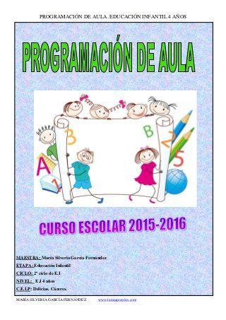 Programación de aula 2015-16.Educación Infantil 4 años.
