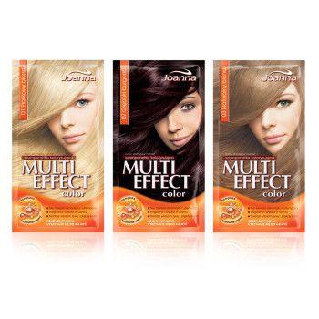 Koloryzacja za pomocą serii Multi Effect to opcja odpowiednia, jeśli boisz się trwałego koloru na dłużej lub nie chcesz dbać o odrosty. W gamie kolorów znajdziesz zarówno chłodne blondy, jak i ogniste rudości czy naturalne brązy. Wypróbuj swój wymarzony kolor bez ryzyka!