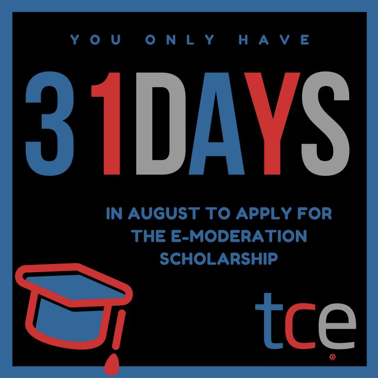 Want to win a fully-funded place on October's (online) e-Moderation course. Anyone from a developing country can apply IN AUGUST only. Time will fly, so find out more information now. http://www.theconsultants-e.com/trainingonline/scholarshipsintroduction.php#utm_sguid=162604,6f728cce-1bd3-c10e-0694-2c4c372c0bb0