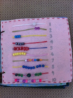 busy book counting beads