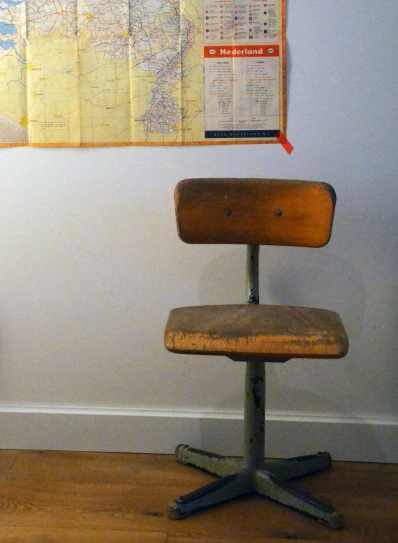 A lovely new item in our shop: gorgeous vintage school chair!