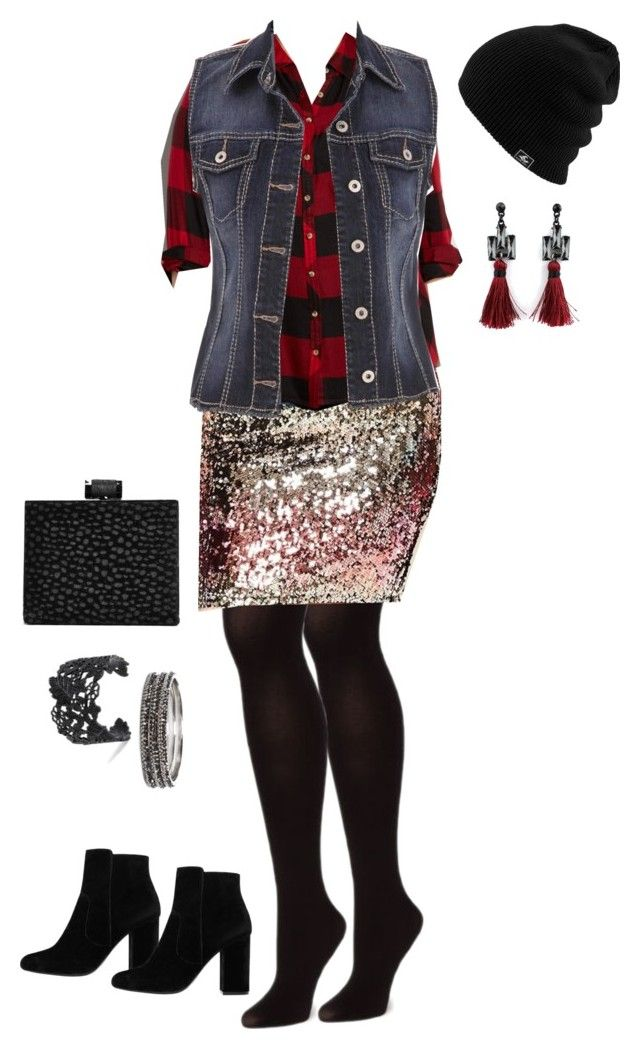 Punky Glam - Plus Size by pamelaflores-1 on Polyvore featuring polyvore fashion style maurices Forever 21 MANGO Boohoo Chico's clothing