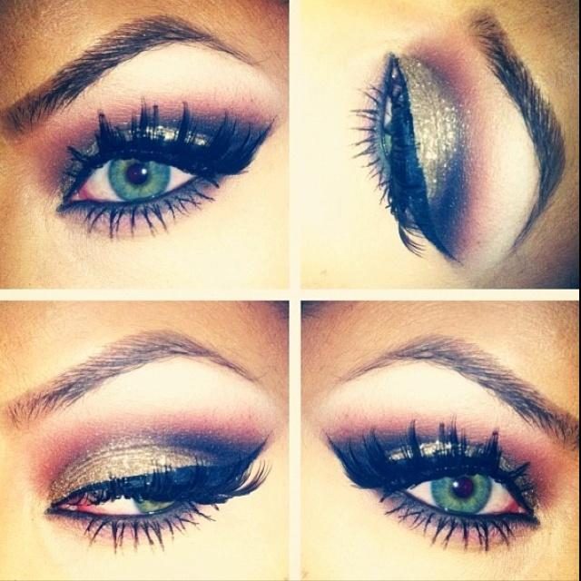 Love!Colors Combos, Cat Eye, Eye Makeup, Dramatic Eye, Makeup Ideas, Eyeshadows, Eyemakeup, Smokey Eye, Green Eye