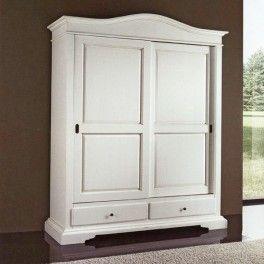 Sliding doors #whitewardrobe cm 180x67, h 225 - #vintagewardrobe #whitewardrobe