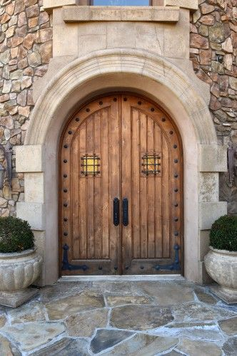 1000 images about front gate ideas on pinterest for Mediterranean style entry doors