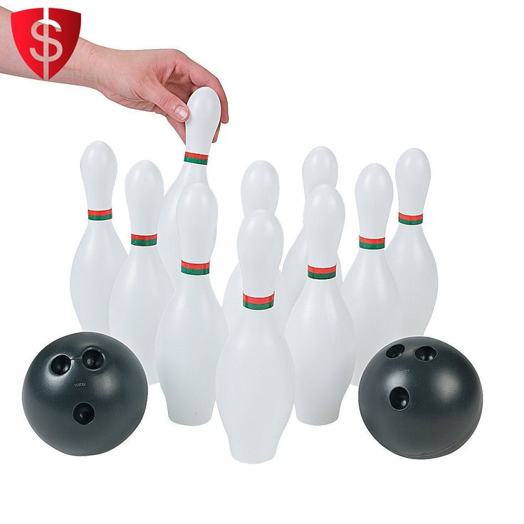 Kids Bowling Set Plastic Toy Large Pins Ball Game Lawn Party Activity 12 Piece