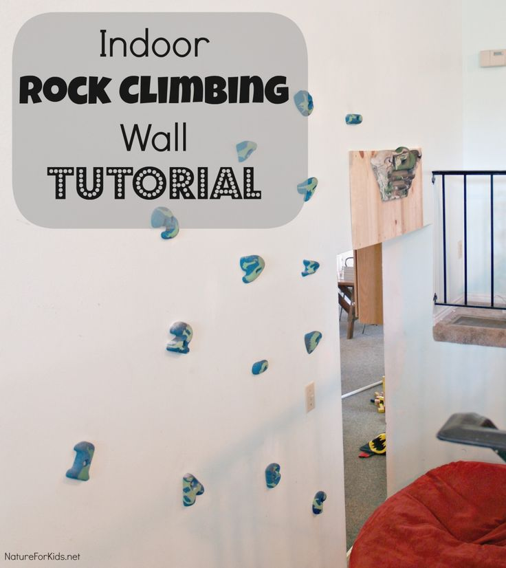 Indoor rock climbing wall tutorial DIY ***AND an awesome video of a family doing strength and endurance exercises on their home set up (not the one pictured), as well as a video of a regimen for the hangboard