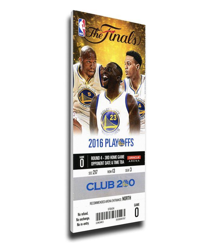 Golden State Warriors Wall Art - 2016 NBA Finals Game 5 Canvas Mega Ticket