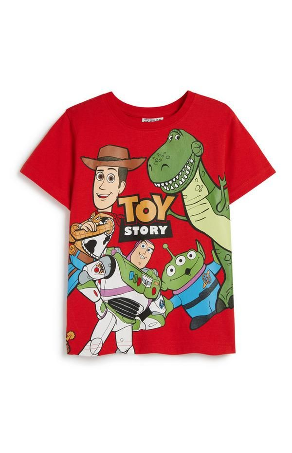 Younger Boy Toy Story T Shirt In 2020 Toddler Birthday Outfit Toddler Shirts Boy