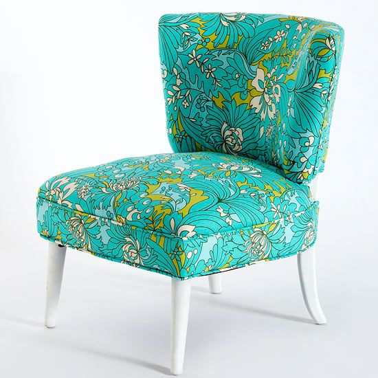 Turn the chair right side up, and enjoy your newly upholstered piece.