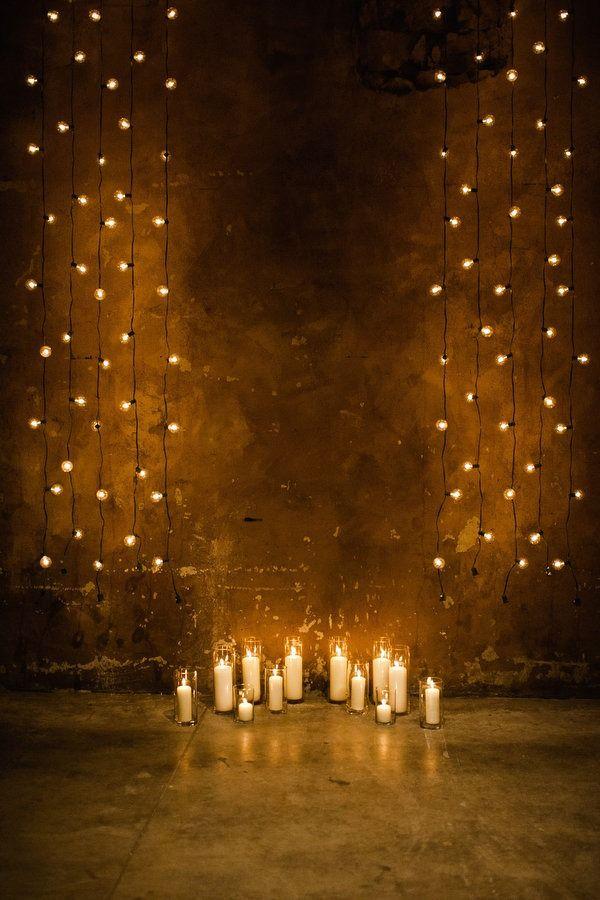 aime les rideaux de lumière pour les murs