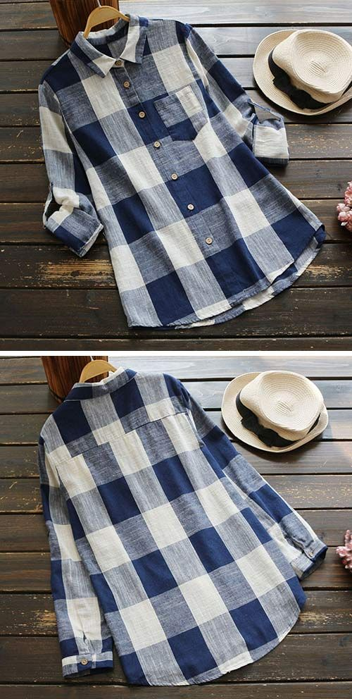 Hot sale,only $19.99! 7 Days Shipping& Easy Return!This casual shirt is in style with plaid pattern and pocket design. See more amazing items at Cupshe.com !