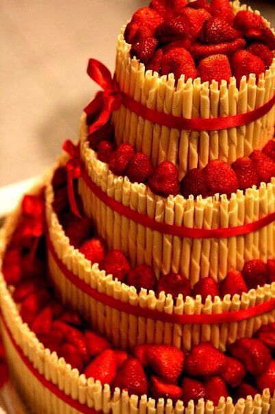 Wedding Strawberry Cake