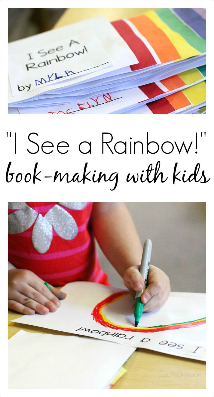 Meaningful, easy, and fun preschool color activity - Make a book about the colors of the rainbow
