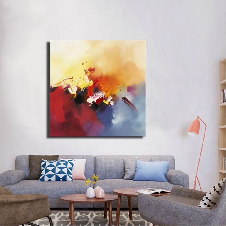Livraison gratuite home decor moderne simple acrylique peinture à lhuile pour la décoration murale
