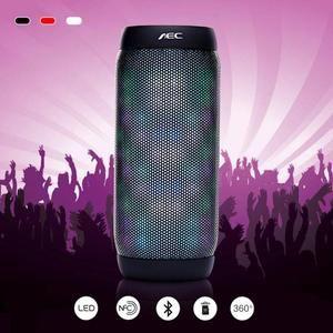 Xvgjdz colorful Waterproof LED Portable Bluetooth Speaker BQ-615 Wireless Super Bass Mini Speaker with Flashing Lights FM Sound