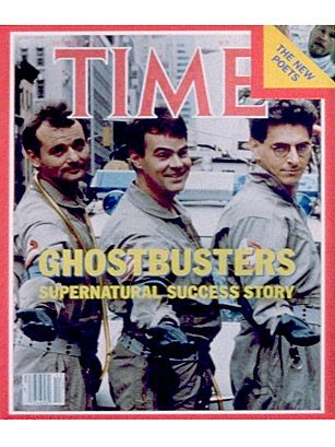 Peter Venkman (Bill Murray), Ray Stantz (Dan Aykroyd) and Egon Spengler (Harold Ramis) in Ghostbusters