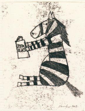 Zebra reading