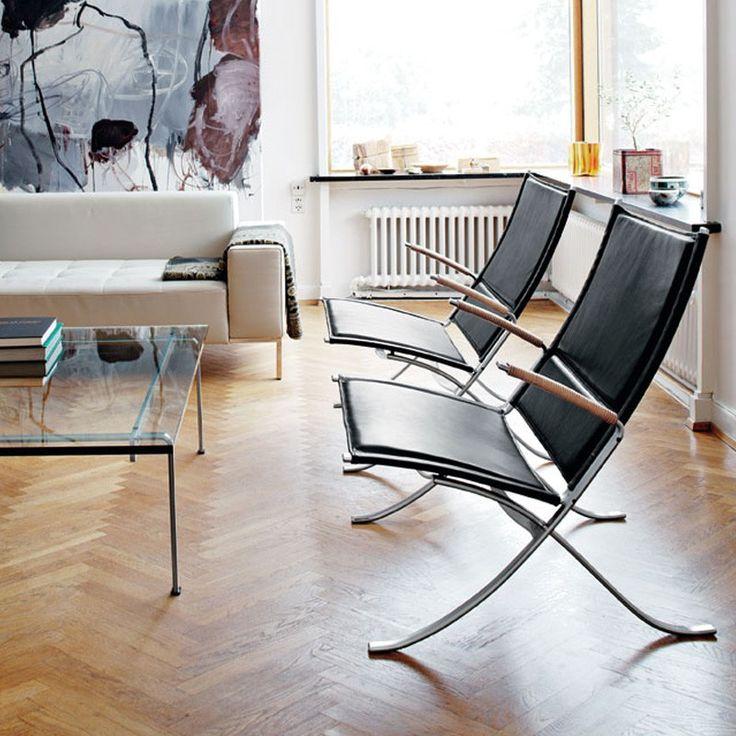 FK 82 X Chair - Sort læder - Lænestole - Stole - Møbler