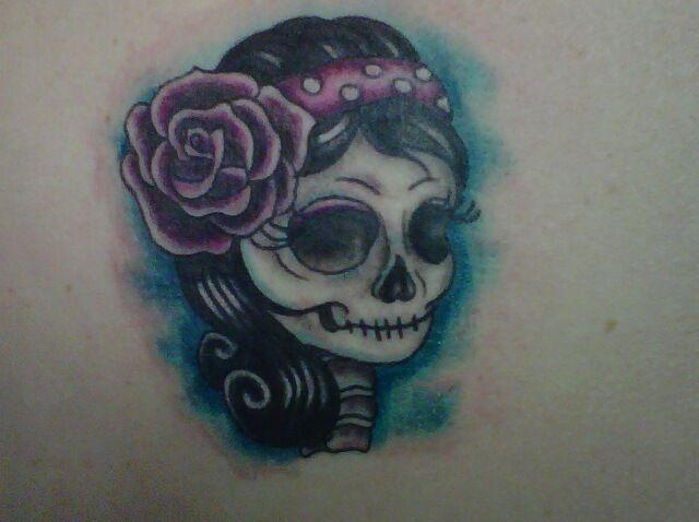 My sweet girly skull | Tattoos | Tattoos, Skull, Skull tattoos