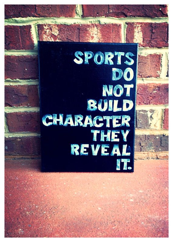 Sports reveal character 9 x 12 canvas quote by shopsignlanguage, $15 work out ro…
