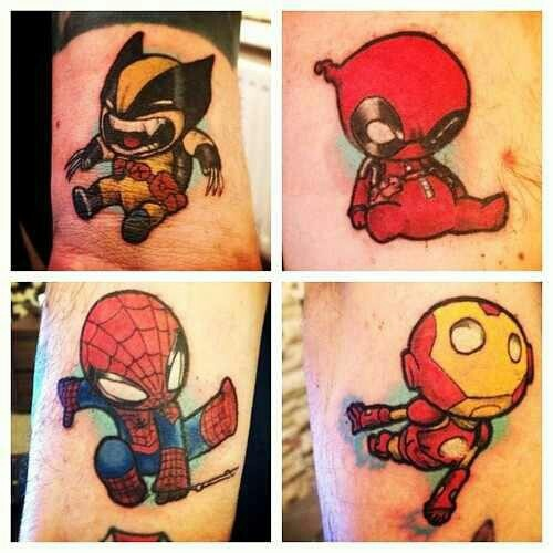 Baby superhero tattoos!