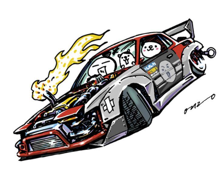 Car Illustration Crazy Car Art Jdm Japanese Old School Drift Car