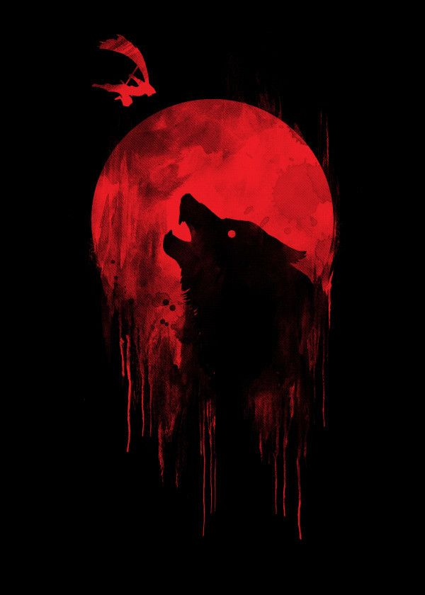 Wolf Hunting Poster By Steven Toang Displate Moon Art Werewolf Art Wolf Artwork Anime wallpaper red wolf