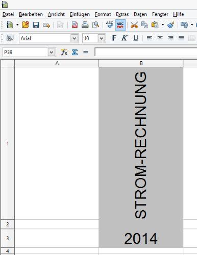 OpenOffice: Ordnerrücken beschriften