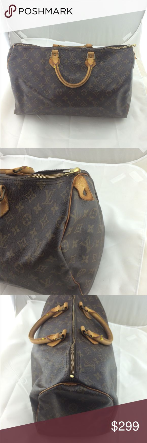 Authentic Louis Vuitton speedy 40 Vintage bag in usable condition .100% authentic .price is low and firm on posh .will ship next day Louis Vuitton Bags Totes