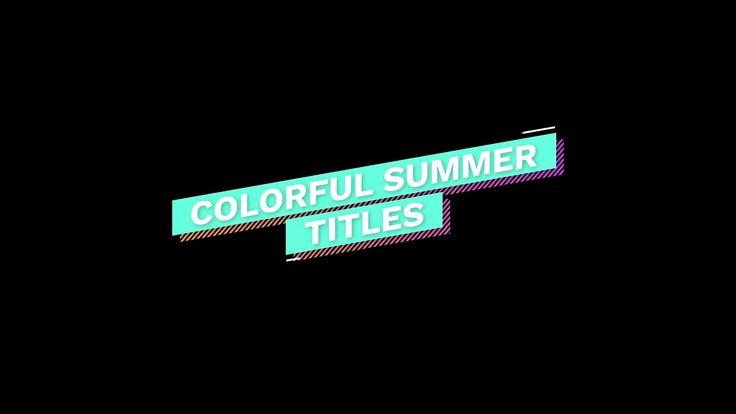 Colorful Summer Titles Video Video Letter Logo Design Text Design Graphic Design Logo