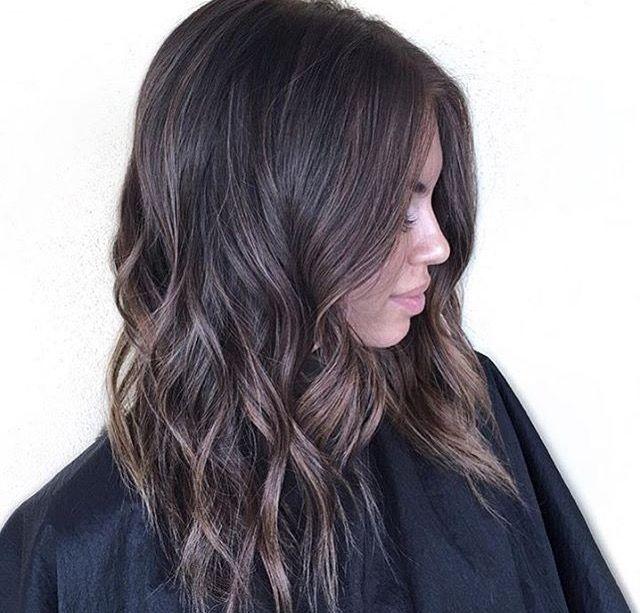 Cool Tone Deep Rich Brown Balayage Brunette Medium Hair Styles Balayage Hair
