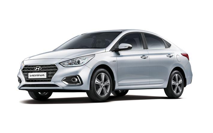 Download wallpapers Hyundai Verna, 4k, 2017 cars, Hyundai Solaris, new Verna, Hyundai