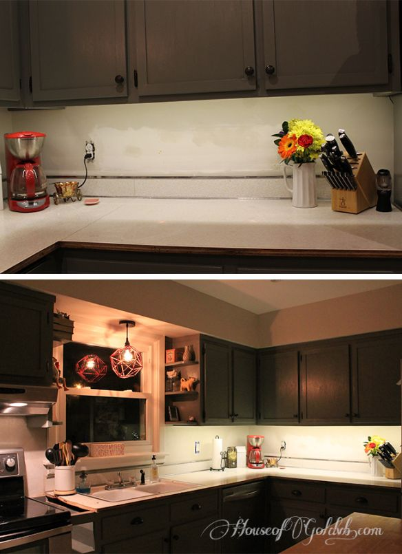 Installing undercabinet lighting in under 30 minutes. And for $25!