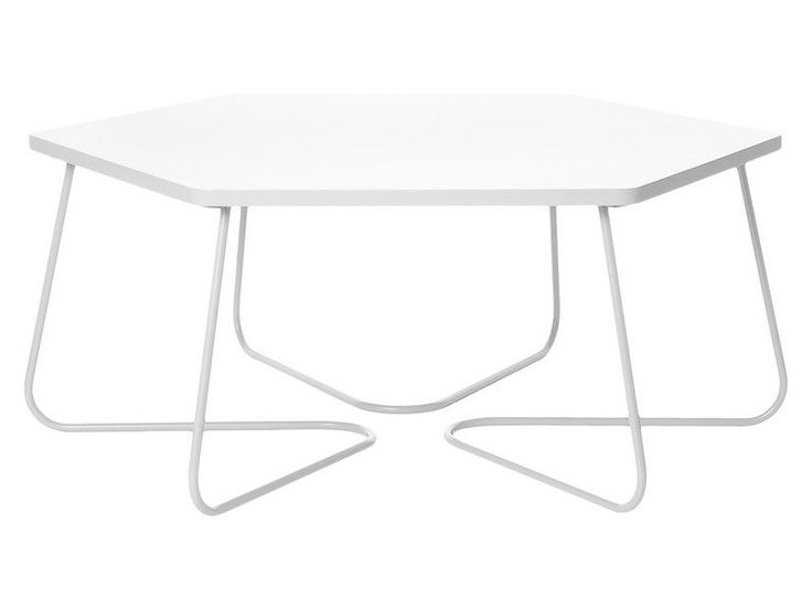 Table basse Hexagonale Blanche GM