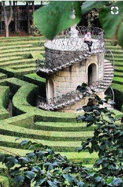 Labirinto di Villa Pisani in Venice, Italy!