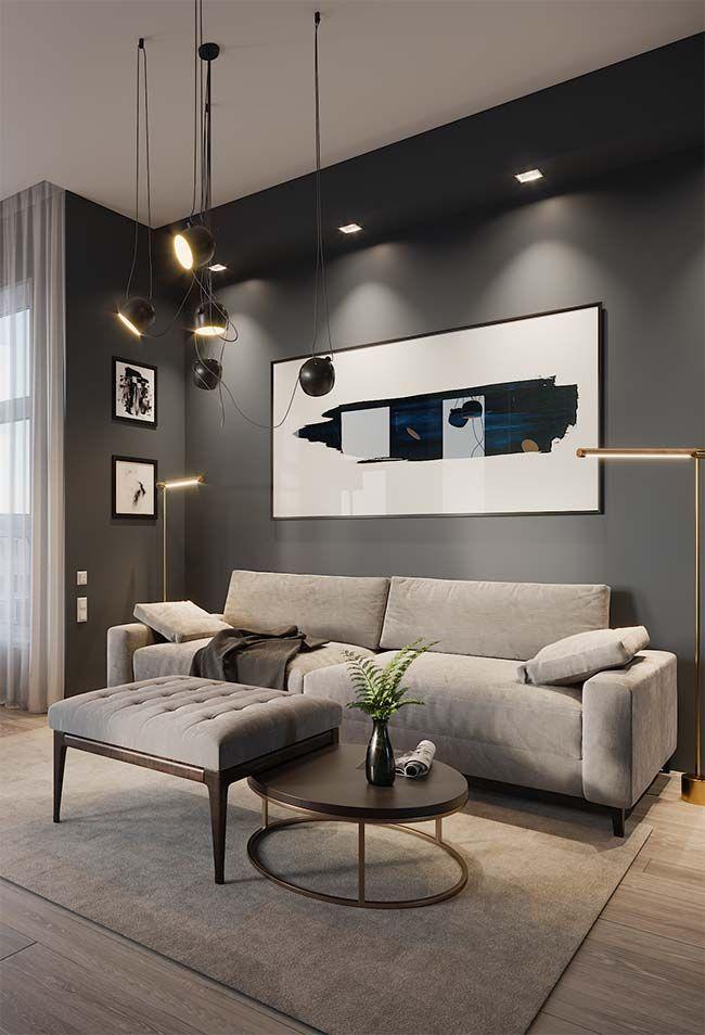 Quadro grande para sala moderno e abstrato  Home Decor