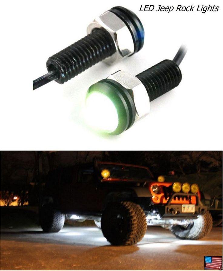 2 LED JEEP Tube Slider Rock Guard Fender Trail Clearance Lights XJ CJ TJ YJ JK in eBay Motors, Parts & Accessories, Car & Truck Parts | eBay
