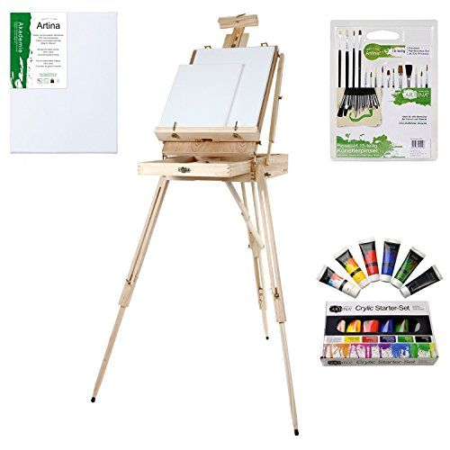 Artina® Set di pittura da 24 unità: 1 cavalletto tripode ... https://www.amazon.it/dp/B00DMZKMX0/ref=cm_sw_r_pi_dp_x_TqgazbF41D80Z