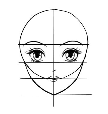 Mouth on  face of manga