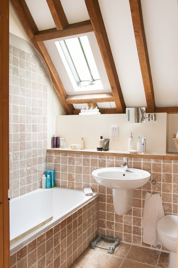 English cottage bathrooms - Converted Oast House And Granary Bathroom